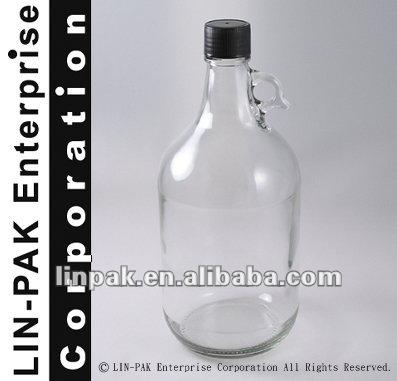 2 5 litre verre clair bouteille avec poign e bouteilles id de produit 121540104. Black Bedroom Furniture Sets. Home Design Ideas