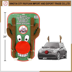 cute lovely car deco festival decoration christmas reindeer antler car kit direct