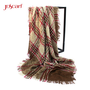 Cashmere feel 100 acrylic scarf colorful fake designer scarves ladies black mens fashion scarf