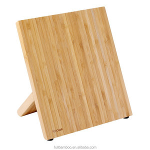 fuboo bamboo magnetic knife holder/ block, customizable