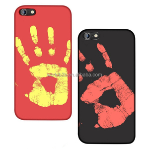 Magical Fashion Color Changing Thermal Sensor Fluorescent Heat Sensitive Back Case for iPhone 7