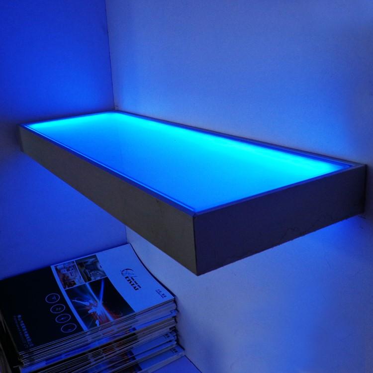 led glas plankkeuken glas plank display lichtglasplaat rand verlichting wst 1816
