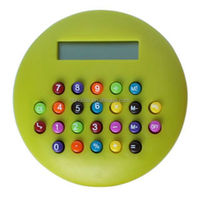 Round promotion gifts calculator with colorful button HLD-602