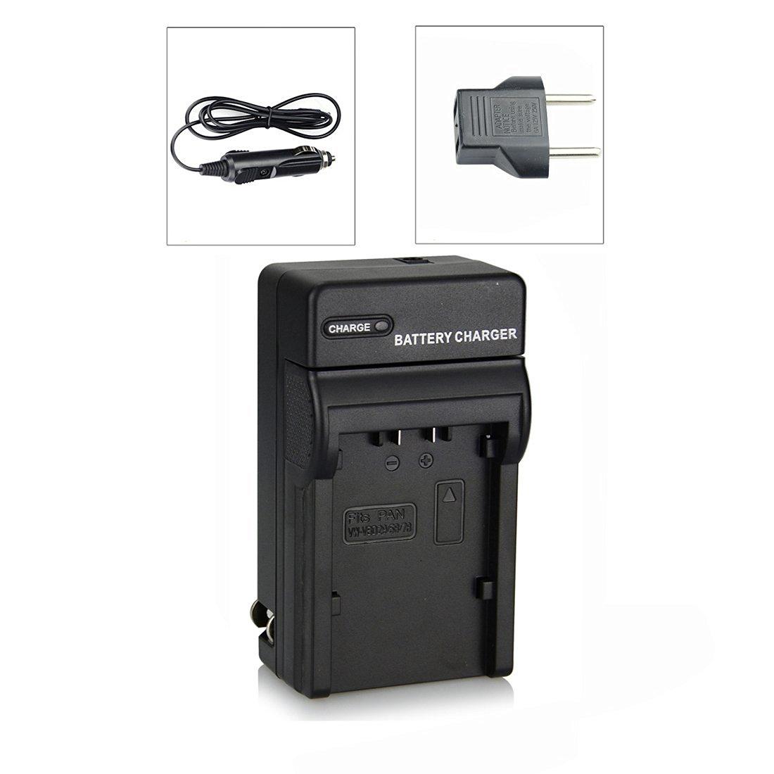 DSTE DC155 Travel and Car Charger Adapter for Panasonic VW-VBD29 VW-VBD58 VW-VBD78 Battery as AG-B23P