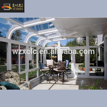 Low cost prefab energy conservation aluminum decorating for Prefab conservatory