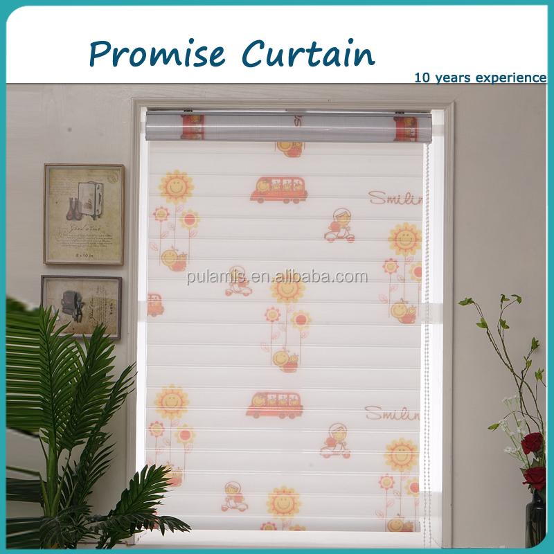 bonita tela rodillo de tratamiento de la ventana para la habitacin de los nios