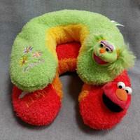 cute cartoon character Sesame Street U shape plush pillow for kid