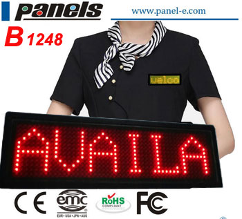 2b3fcc91e17 LANPAI B1248 Green Mini led name badge small led name card Factory Best  Price