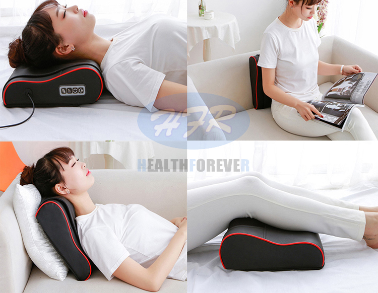 Car Seat Massage, full body multi-purpose electric lumbar back heat neck shoulder shiatsu Car Home Massage Pillow