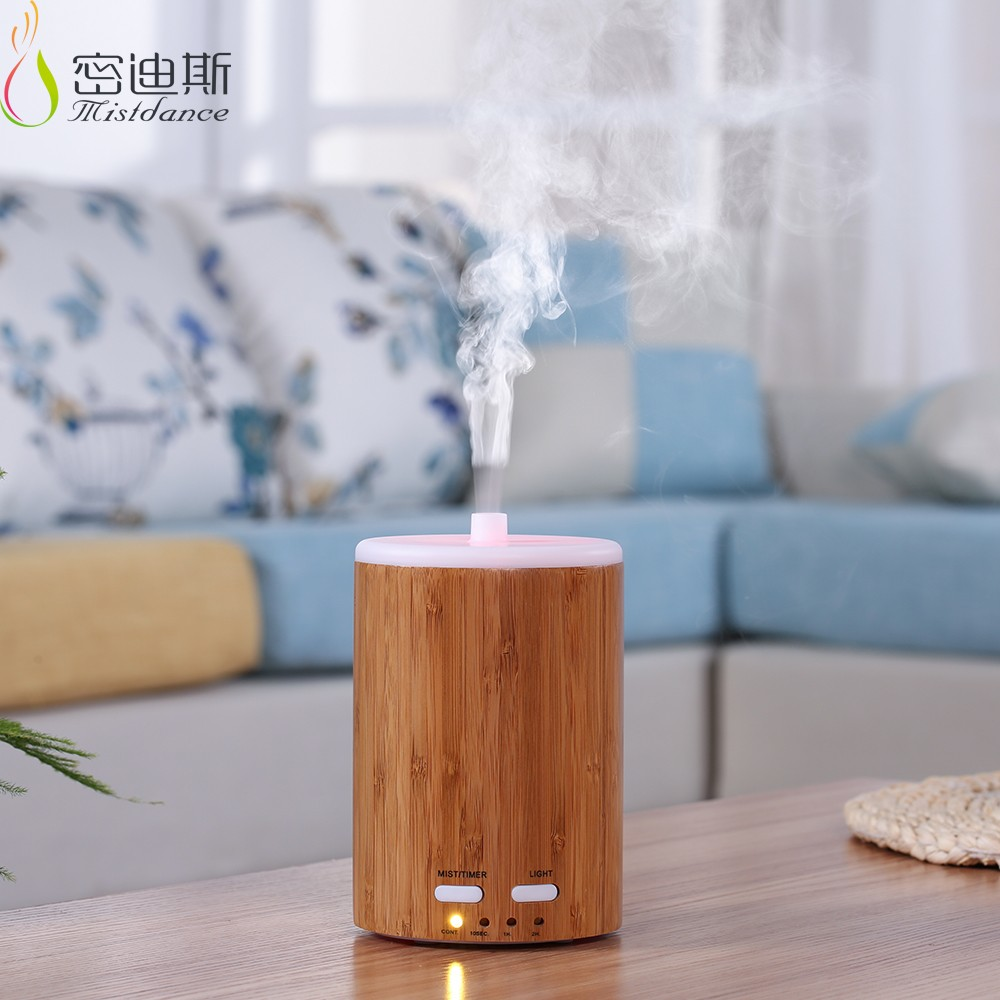 Room real bamboo 150ml capacity ultrasonic mist maker mini air conditioner