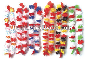 High quality party supply flag hawaii flower necklace lei artificial flower wreath wholesale promotion flower lei