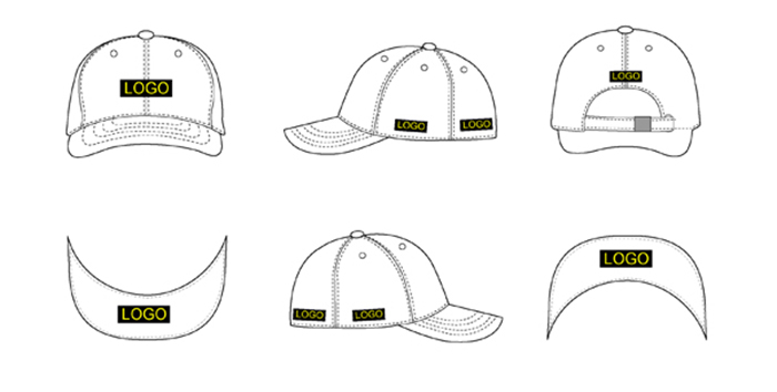 custom woben label print bill underbrim printing 5 panel cap hat