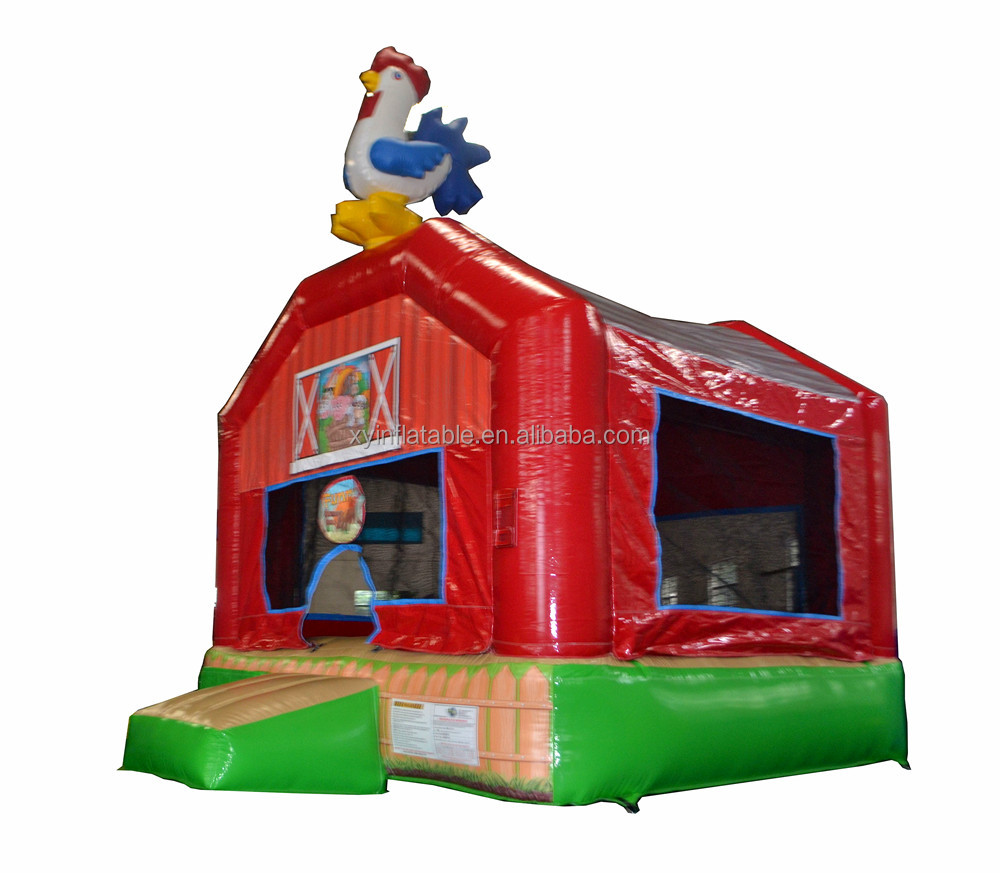 rooster inflatable farm bounce house
