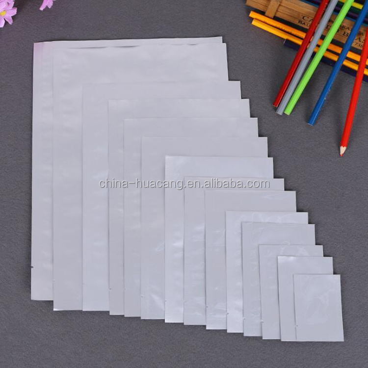 clear nylon PE laminated plastic food packaging vacuum sealed bag in custom different size