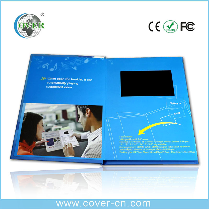 Low price popular lcd video booklet video greeting card in stock