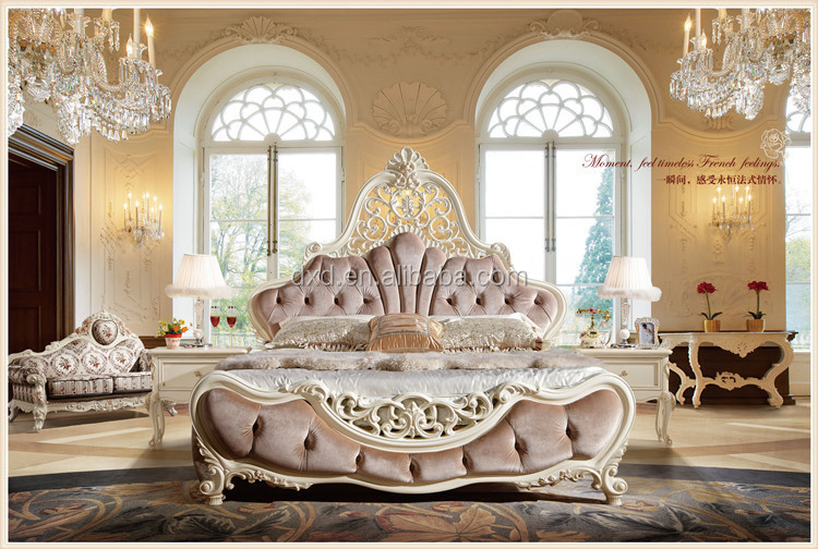 Luxury french style bed room furniture hotel king size bed for What is a french bed in a hotel