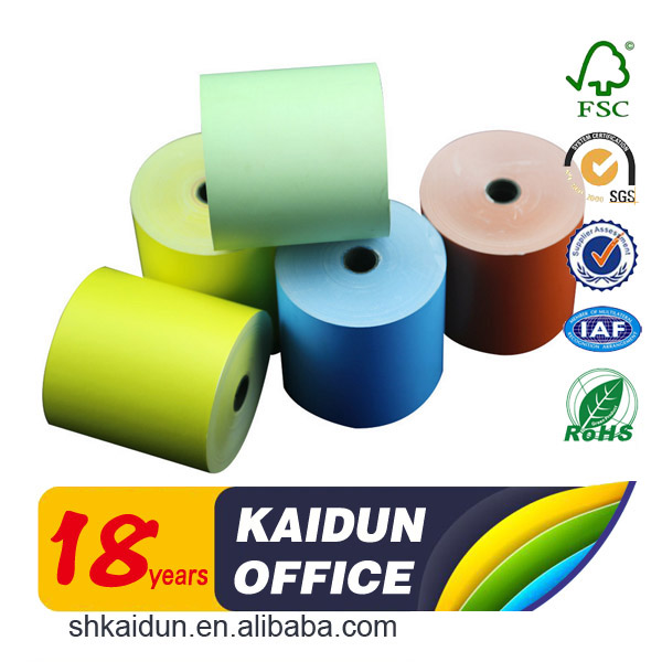 Alibaba colored thermal paper roll 80x80 paper sheets manufacturers