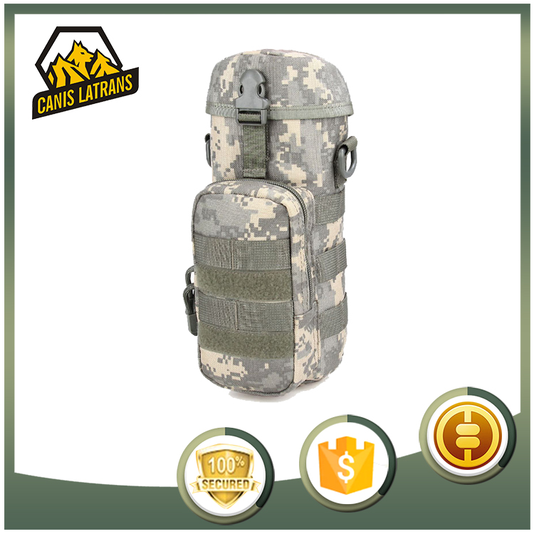 MOLLE Airsoft Army Hydration Pack Military Tactical Field Combat Bag Water Bottle Holder Pouch Seals Kettle CL6-0076