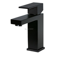 High Quality 100 Solid Brass Newest Luxury Design Deck Mount Vessel Faucet Matt Black Square Bathroom