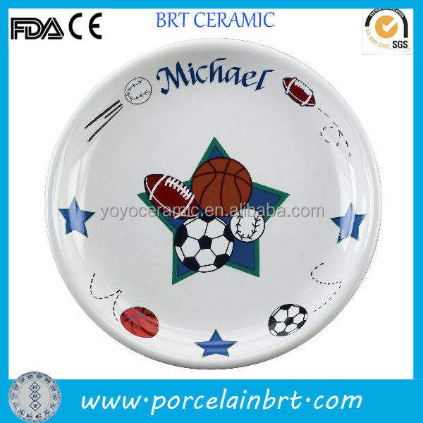 Ceramic football plate unique christmas gifts boys