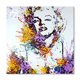 Print with Hand Touch Movie Star Marilyn Monroe Art Canvas Painting for home Decor