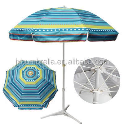 Polyester cloth navy stripe turns to beach umbrella outdoor fishing umbrella advertising straight umbrella