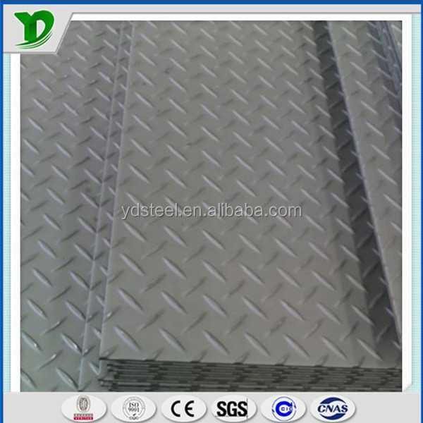 hot!!high quality chequered steel diamond plate for car floor /ship deck any