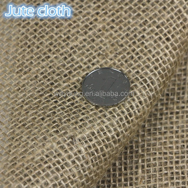 Jute cloth big square mesh jute yarn knitting burlap fabric for gunny sacking bagging hessian cloth sackcloth gift bags handbag