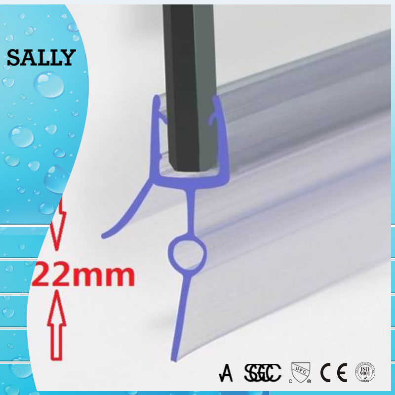 AC010 Easy to install shower door bottom pvc seal strip