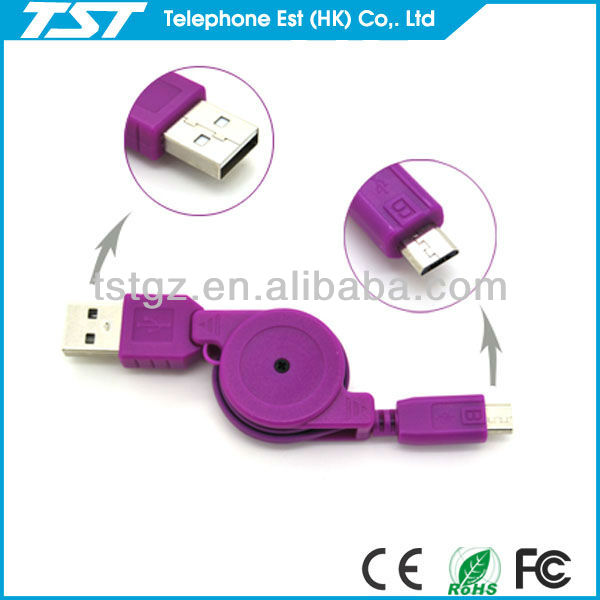 8 Pin Usb Data Retractable Cable
