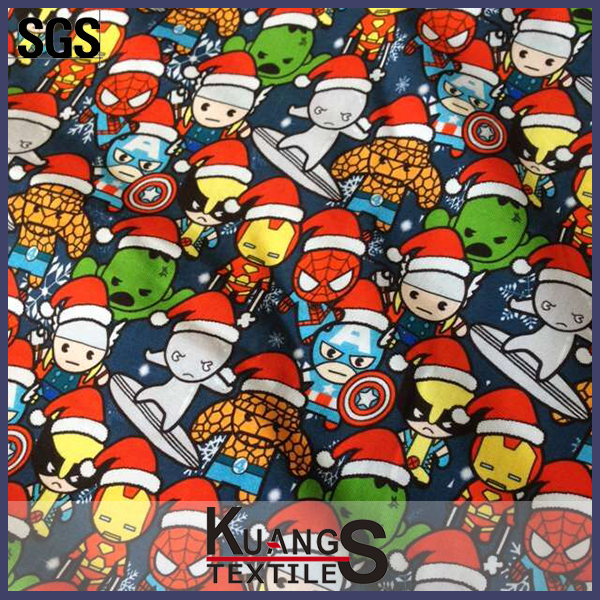 220gsm custom digital printing cotton lycra fabric