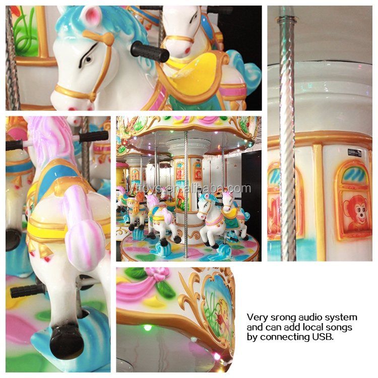Amusement park merry go round carousel horses plastic for sale