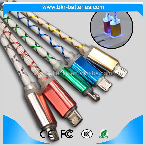 High Quality Cable USB2.0 Micro Led Retractable 5V/2A Charging USB Cable