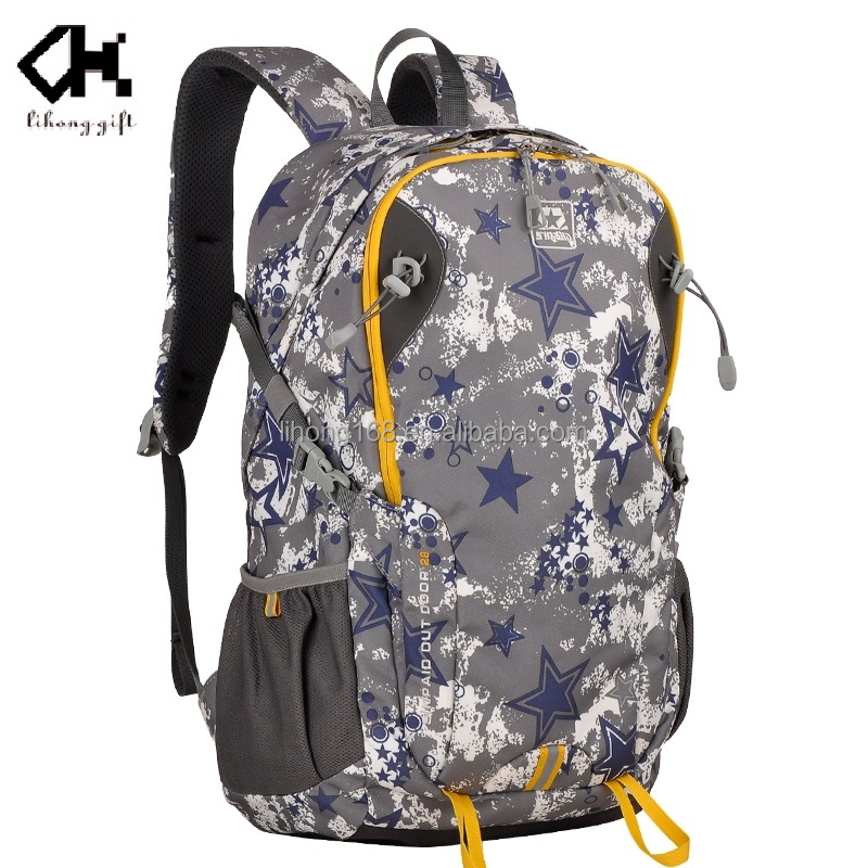 Summer best selling light weight colorful design travel hiking waterproof backpack for sports