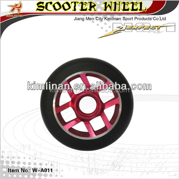metal core scooter wheel, pro scooter wheel, scooter pu wheel 100mm