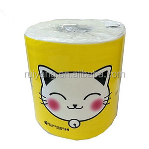 hot selling pussycat brand 3Ply/sheet 120g/roll 100% virgin wood pulp bathroom use napkin roll TOILET TISSUE PAPER
