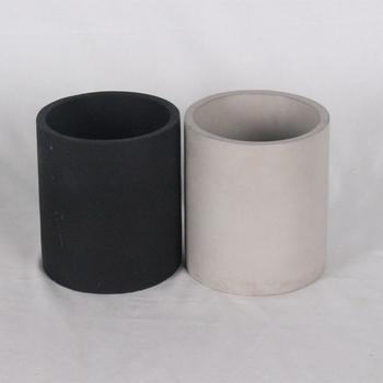 Unique concrete candle jars / black luxury candle holder designed for home  decor