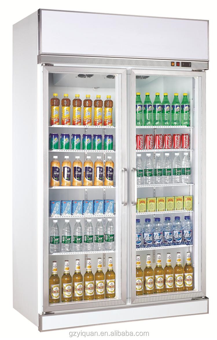 Doppeltüren Glas Softdrink-display Kühlschrank Schaufenster ...