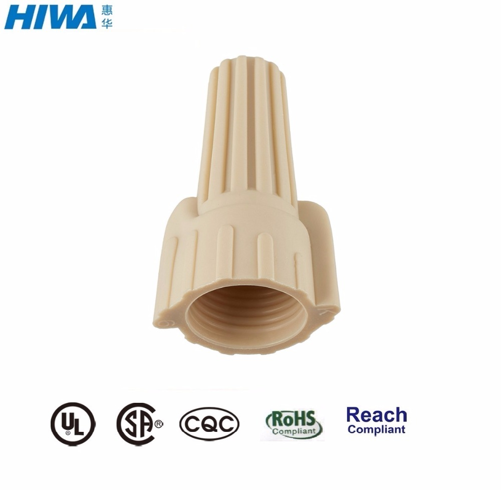 FAST SHIPPING 5000 TAN WINGED WIRE CONNECTORS SCREW-ON NUTS UL 5,000//CASE