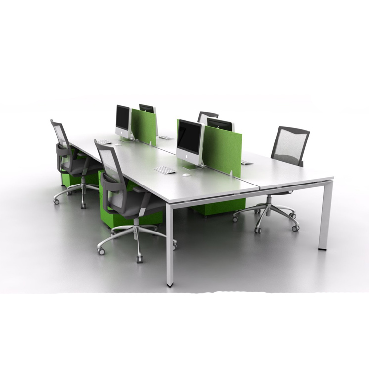 8 Person Office Furniture Work Station L Type Long Table Workstations