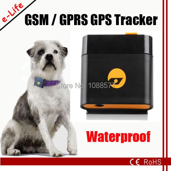 100% оригинал водонепроницаемый GPS собака трекер с GPS слежения чип и бесплатная программного обеспечения