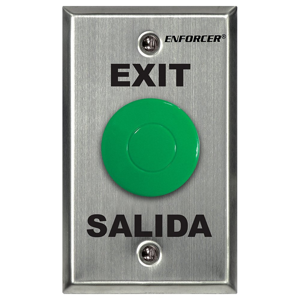 Seco-Larm Enforcer Slimline Green Request-to-Exit Plate with Pneumatic Timer (SD-7213-GSP)