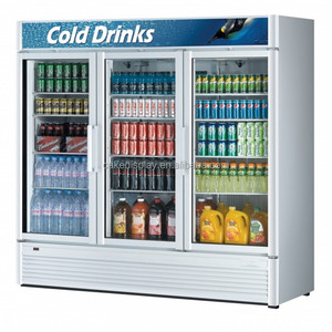 3 Door 1500L Coke Portable Refrigerated Display Cooler