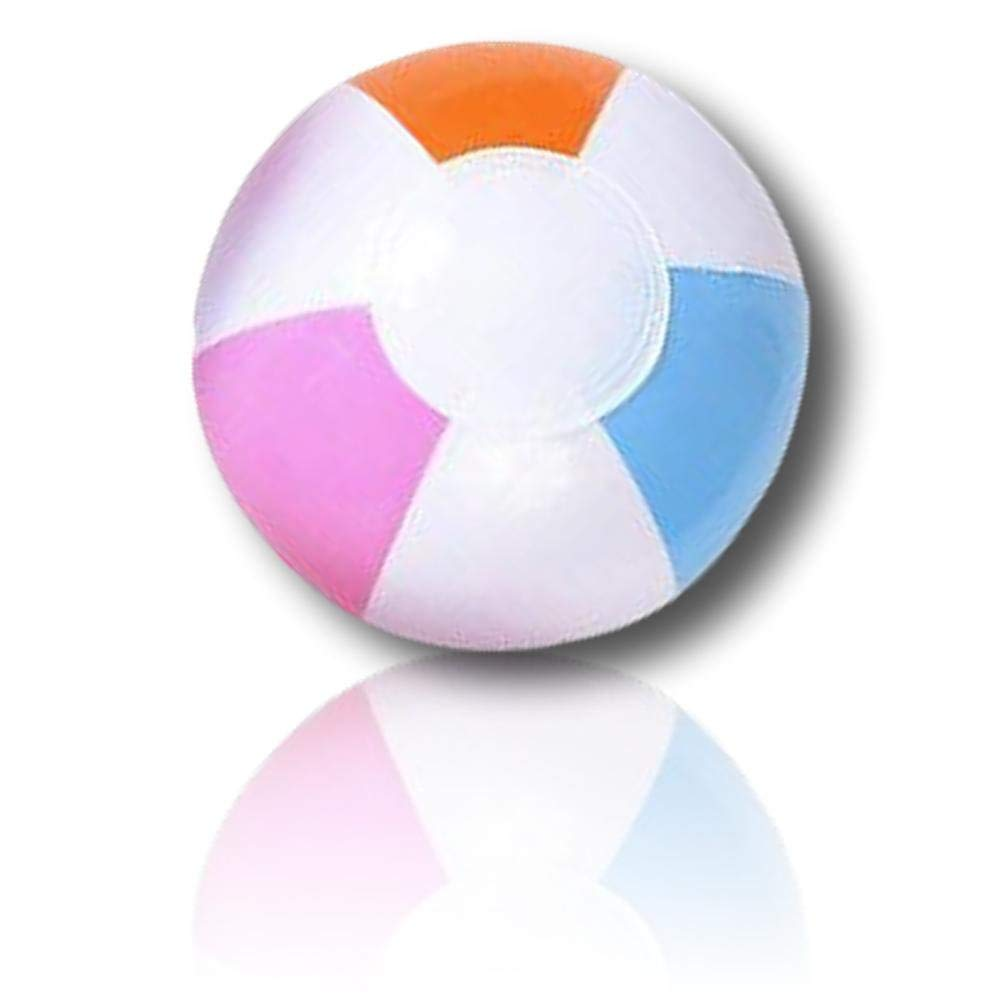 """ULTRA Durable & Custom {5"""" Inch} 24 Bulk Pack of Small-Size Inflatable Beach Balls for Summer Fun, Made of Lightweight FLEX-Resin Plastic w/ Light & Bright Pastel Wedge Stripes Pattern {Multicolor}"""