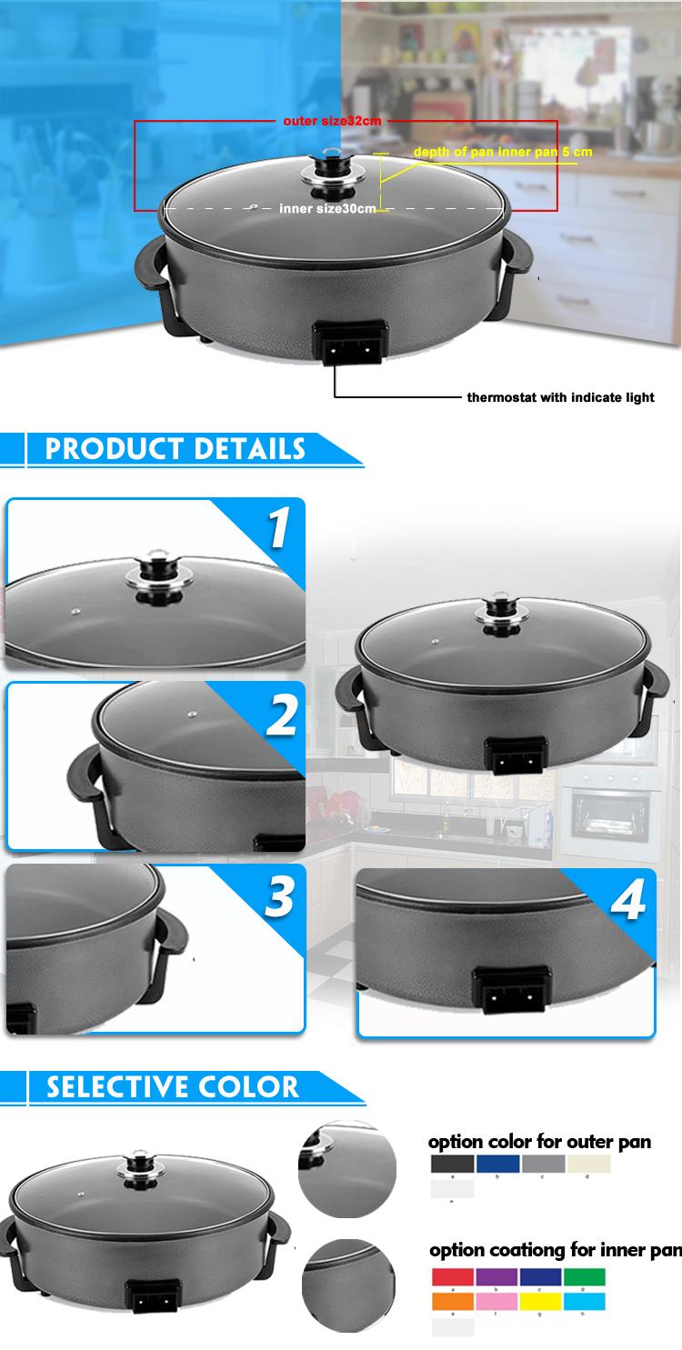 36a04b760 Tamanho interno 30 cm tamanho Exterior 32 cm Profundidade 5 cm fritura  elétrica pan pizza preço