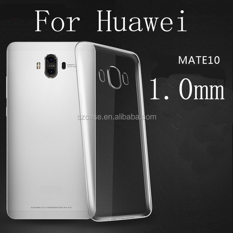High Clear Transparent TPU Mobile Phone Cover Case for Huawei Mate 10 Pro
