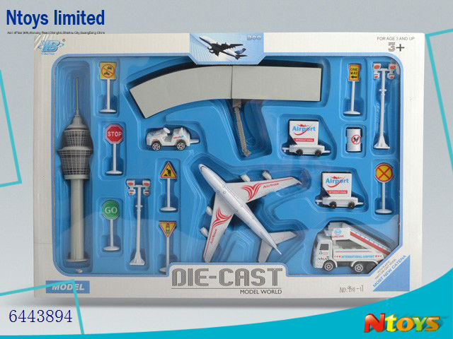 6443894 METAL TOY ALLOY AIRCRAFT