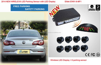 2014 new auto 8 sensor wireless parking sensor with LED Display(EW01-8-MF1)
