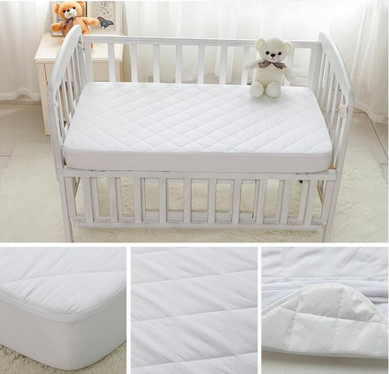 washable bed bug white quilted baby waterproof single crib mattress cover buy mattress cover