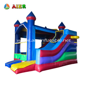 Aier inflatable bouncer dry slide jumper castle for kids